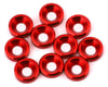 V-Force Designs 3mm Countersunk Washers (Red) (10)