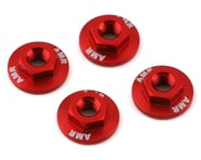 AMR 4mm Aluminum Serrated Flange Nut (Red) (4) | product-also-purchased