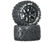 DuraTrax Sixpack MT 2.8 Mounted Truck Tires 2WD 1/2 Offset Black DTXC3522 | product-related