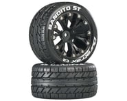 DuraTrax Bandito ST 2.8 Mounted Truck Tires 2WD Rear Black DTXC3542 | product-related