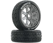 DuraTrax Bandito Buggy Tire C2 Mounted Spoke Black Chrome DTXC3657 | product-related