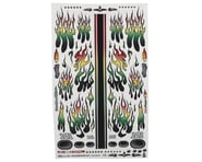 """Firebrand RC Flames Rasta Decal Sheet (8.5x14"""")   product-related"""