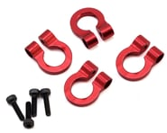 Hot Racing 1/10 Scale Alum Red Tow Shackle D-Rings (4) HRAACC80802 | product-related