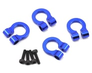 Hot Racing 1/10 Aluminum Blue Tow Shackle D-Rings HRAACC80806 | product-related