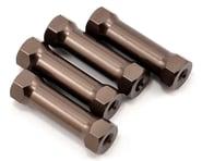 Kyosho SP Aluminum Radio Post Set (Gunmetal) (4)   product-related