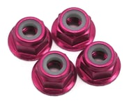 Traxxas 4mm Nylon Flanged Locknuts Pink (4) TRA1747P | product-related