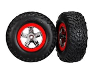 """Traxxas 2WD Mounted SCT Tires & 2.2/3.0"""" DP Wheels Red TRA5888   product-related"""