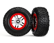 Traxxas 4WD/2WD Mounted SCT Tires & DP Wheels Red TRA6891R   product-related