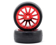 Traxxas Slick 1/18 Mounted Rally Tires LaTrax Red (2) TRA7573X | product-related