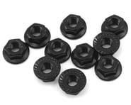 Yeah Racing 4mm Aluminum Serrated Lock Nut (10) (Black)   product-related
