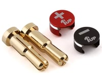 1UP Racing LowPro Bullet Plug Grips w/4-5mm Bullets (Black/Red)