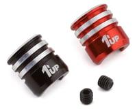 1UP Racing Heatsink Bullet Plug Grips (Black/Red) (Fits LowPro Bullet Plugs)