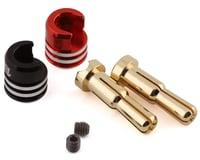 1UP Racing Heatsink Bullet Plug Grips w/4-5mm Bullets (Black/Red)