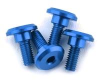 1UP Racing 3x6mm Aluminum Servo Mounting Screws w/4.2mm Neck (Blue) (4)