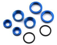 Associated Blue Aluminum 10mm Shock Caps and Collars ASC21556 (Team Reflex 14T)