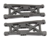 """Team Associated RC10B6 Factory Team Carbon Front Suspension """"Flat"""" Arms"""