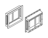 Athearn HO All-Weather Window Set, 2 Pane/Shallow/Angle(6)