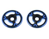 Avid RC Triad Wing Mount Buttons (2) (Black/Blue) (XRAY XB808E)