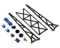 """DragRace Concepts DRC1 Drag Pak 10"""" Slider Wheelie Bar w/Plastic Wheels (Blue)"""