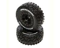 DuraTrax Fr SpeedTreads Breakaway SC Mounted Tires Black DTXC2925