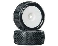 DuraTrax X-Cons 1/8 Truggy Tire C2 Mntd Zero Offset (2) DTXC3660