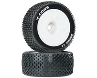 DuraTrax X-Cons 1/8 Truggy Tire C2 Mounted 1/2 Offset White (2) DTXC3662