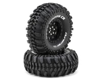 "DuraTrax Deep Woods CR 1.9"" Pre-Mounted Crawler Tires (2) (Black)"