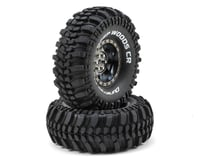 "DuraTrax Deep Woods CR 1.9"" Pre-Mounted Crawler Tires (2) (Black Chrome)"