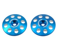 Exotek 22mm 1/8 XL Aluminum Wing Buttons (2) (Blue) (Losi 8IGHT-E)