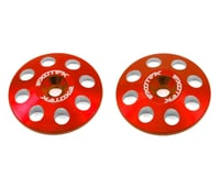 Exotek 22mm 1/8 XL Aluminum Wing Buttons (2) (Red) (Losi 8IGHT-E)
