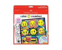 Faber-Castell Color By Number Emoji Pop-Art