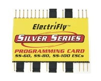 Great Planes ElectriFly Silver Series Programming Card SS-60,80,100 GPMM1895