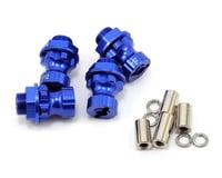 Team Integy 17mm Aluminum Hex Wheel Hub Set (Blue) (4) (+12mm Offset) (Traxxas Revo)