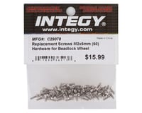 Integy Replacement Screws M2x6mm (60)for Beadlock Wheel INTC29078