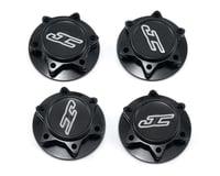 JConcepts Fin 1/8 Serrated Lightweight Wheel Nut Black JCO24512 (Losi 8IGHT-E)