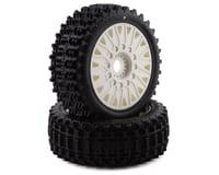 JConcepts Magma Pre-Mounted 1/8 Buggy Tires w/Cheetah Wheel (White) (2) (Traxxas Rustler 4x4)