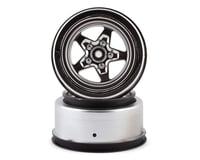 Losi 22S Drag Satin Chrome Rear Wheel (2) for LOS43048