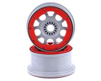 Losi Silver Wheels with Red Bead Lock (2) DBXL-E 2.0 LOS45033