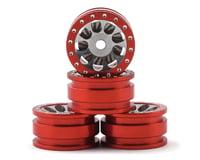 Orlandoo Hunter OH35A01 Aluminum Porous 9 Hole Wheel w/Brake Rotor (Red) (4)