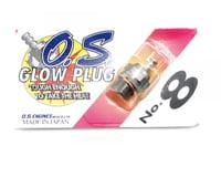 O.S. Engines 8 Glow Plug Standard Long Medium Hot OSM71608001