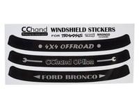 RC4WD CChand TRX-4 Bronco Windshield Decals
