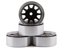 """RC4WD Trail Finder 2 OEM 6-Lug Stamped Steel 1.55"""" Beadlock Wheels RC4ZW0337"""