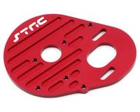 ST Racing Concepts Aluminum Heatsink Finned Motor Plate (Red) (Team Associated RC10 B4)