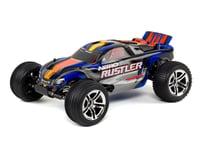 Traxxas Nitro Rustler 1/10 2WD with TSM (Blue)