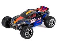 Traxxas Nitro Rustler 1/10 2WD with TSM (Silver/Blue)