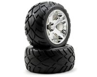 Traxxas Jato Anaconda Tires w/All-Star Rear Wheels (2) (Jato) (Chrome)