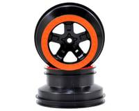 Traxxas Nitro Slash 1/10 Beadlock 2WD Front Wheels Black Orange TRA5870X