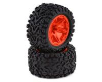 "Traxxas Rustler 4x4 Talon Exteme 2.8"" Tires & RXT Wheels, Orange TRA6773A"