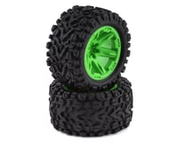 "Traxxas Rustler 4x4 Talon Exteme 2.8"" Tires & RXT Wheels, Green TRA6773G"