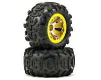 Traxxas Tires/Wheels Assembled Yellow Beadlock 1/16 Summit TRA7276